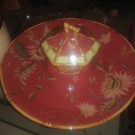 Tracey Porter Artesian Road Chip Tray and Dip Bowl