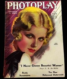 """Vintage 1920s/30s """"PHOTOPLAY"""" Magazines featuring Cover Artwork by F. Earl Christy"""