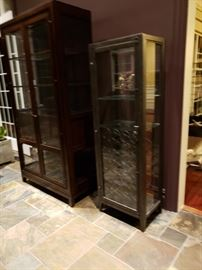 Tall wine cabinet with rack