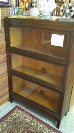 Mahogany Barrister Bookcase. Made in Philadelphia, Makers mark attached, c. 1909.