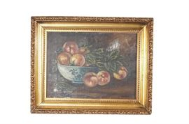 19th c School, Still Life of Peaches