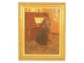 20th C School, Woman at the Piano
