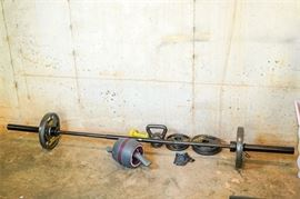 5. Lot of Assorted GOLDS GYM Exercise Equipment