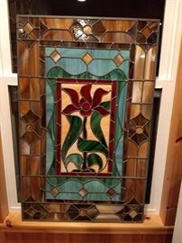 handmade stained glass 26x41