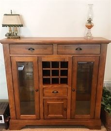 Beautiful Wine Cabinet with great storage capacity.