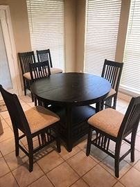 High Rise Dining / Kitchen Table with Dining Chairs