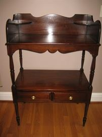 Reproduction washstand used as sideboard