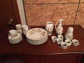 Avon Strawberry China. Has never been used and was stored in china cabinet. Rare and unique.