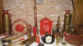Hose, alarm bell, and more. Helmet not included in sale, family has decided to keep.