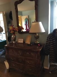 "A gorgeous Louis XVth style dresser with mirror by ""Villandry"" ."