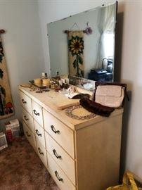 Vintage Blonde Dresser, Vanity items