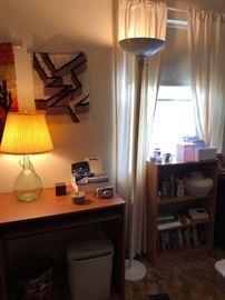 Small Desk, Paper Shredder, Shelf