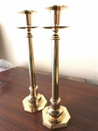 Solid heavy tall Brass Candle stands