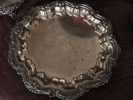 Round Silver Platters, varied sizes