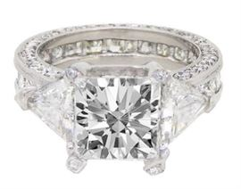 GIA 3CT Diamond Solitaire Ring