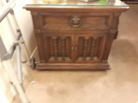One of two night stands that go with the king size bedroom suite.  Bed, mattress, triple mirror dresser, and two night stands for $375.  Excellent condition.