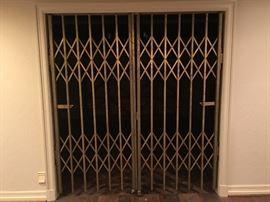"Incredible Brass Folding Gates!  (72"" x 80"" Opening)"