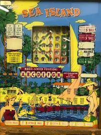 """Sea Island"" Bingo Pinball Machine"