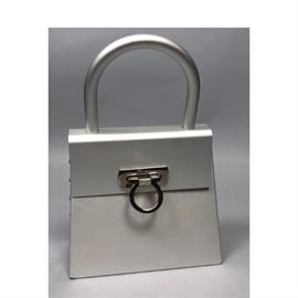 Lot 176 SALVATORE FERRAGAMO Italian Stainless Purse Hand
