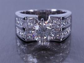 Gorgeous 3.02 CT Diamond Engagement Ring in 14k White Gold - $12999 Retail