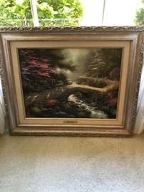 "Thomas Kinkade ""Bridge of Faith"" limited edition print with Certificate of Authenticity."