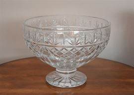 Large Waterford Crystal Lismore Pedestal Centerpiece Bowl (Numbered, Limited Edition)