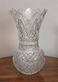 Extra Large Waterford Crystal Peacock Vase (Master Cutter)