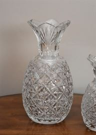 Waterford Crystal Pineapple Hospitality Vase, Master Cutter (larger vase signed by Sean O'Donnell)