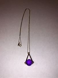 14 kt and amethyst
