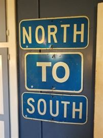North TO South freeway signs