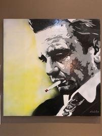 """Johnny"" Original art by Dallas Artist Bryan McClellan  36x36."