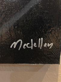 "Original art by Dallas Artist Bryan McClellan ""Johnny"" 36x36."