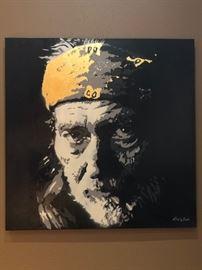 """ Willie"" Original art by Dallas Artist Bryan McClellan 36x36."