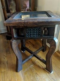 Side Table with Glass Top -  $95.