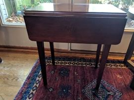 Small Drop-Leaf Side or End Table - $100