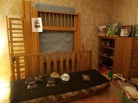 Futon Bunk Bed $75 : Dresser Storage $20 : Hats : Toys