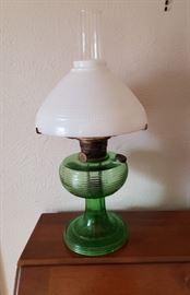 Aladdin Green Beehive Kerosene Lamp
