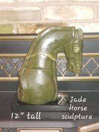 Jade Horse Sculpture