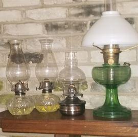 Vintage Oil Lamps