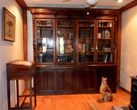 "Fabulous Victorian country store backbar / display cabinet / breakfront! Measures 8'2"" x 8'2"""