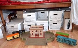 Vintage Lionel Trains & accessories...I can't wait to unpack these boxes!