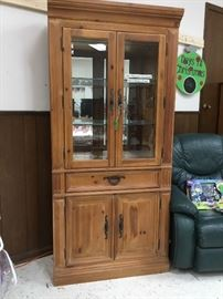 Lighted curio/china cabinet