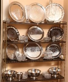 Lots of polished silver plate.