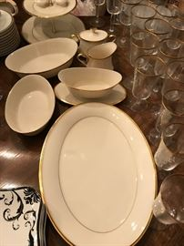 """Lenox """" Eternal"""" Plus extras and matching glassware"""