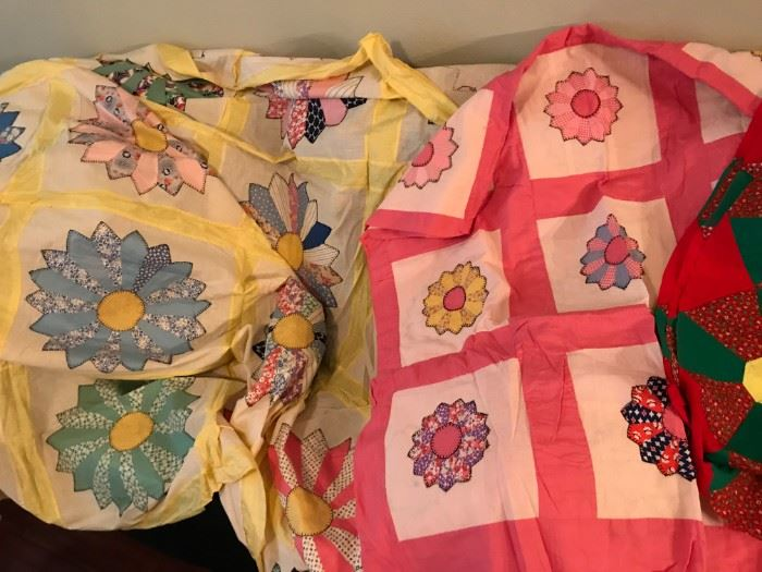 Vintage Quilt Tops- Handmade and mint like
