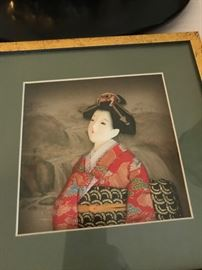 Porcelain Woman in Shadowbox