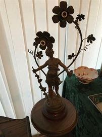 Aug Moreau Lamp French Foundry Mark