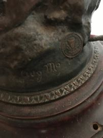 French Foundry Mark on Antique Moreau Lamp
