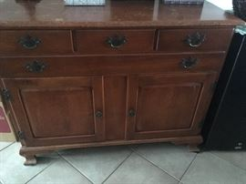 Maple buffet with original hardware