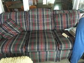 Beautiful plaid couch in excellent condition!
